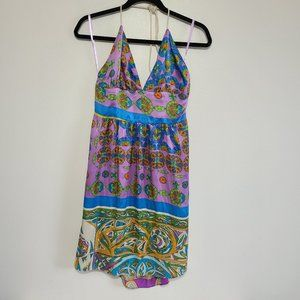 Alice & Trixie 100% Silk Abstract Print Dress